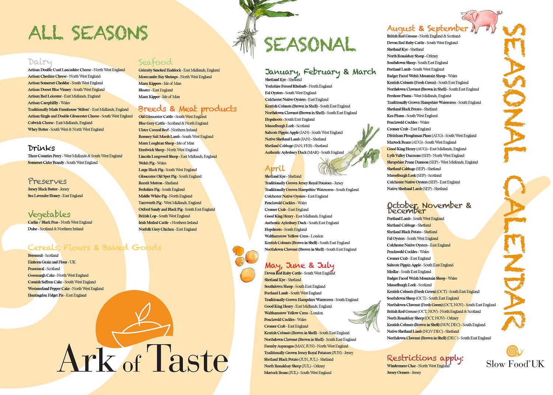 New Seasonal Calendar