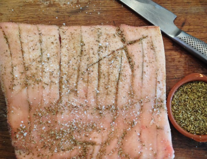 Roast Pork Belly with Fennel