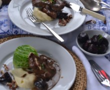 Slow Cooked Devon Beef with Prunes and Pecans