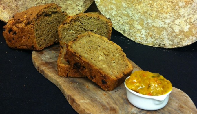 Einkorn Loaf, Confit Onion and Somerset Cheddar