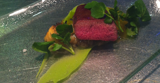 Southdown Lamb Loin with Watercress and Pearl Barley