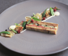 Pressed Terrine of Pork Cheeks, Smoked Ham Hock and Leek
