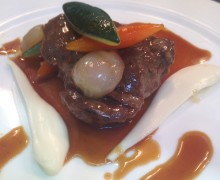 Braised Beef Cheeks with Celeriac Purée