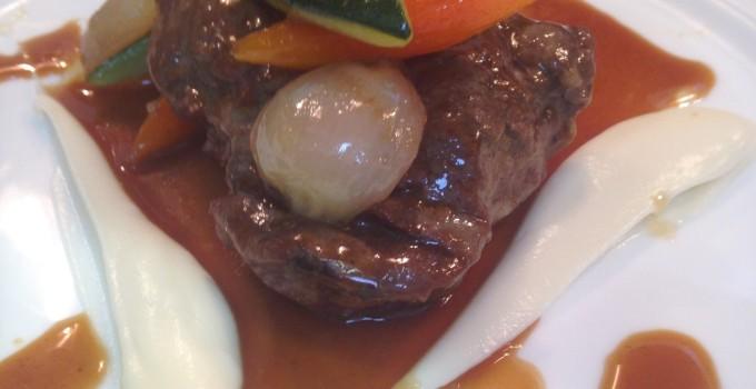 Braised Beef Cheeks with Celeriac Purée