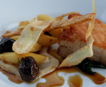 Buttle Farm Pork Belly with Parsnip, Prune & Quince