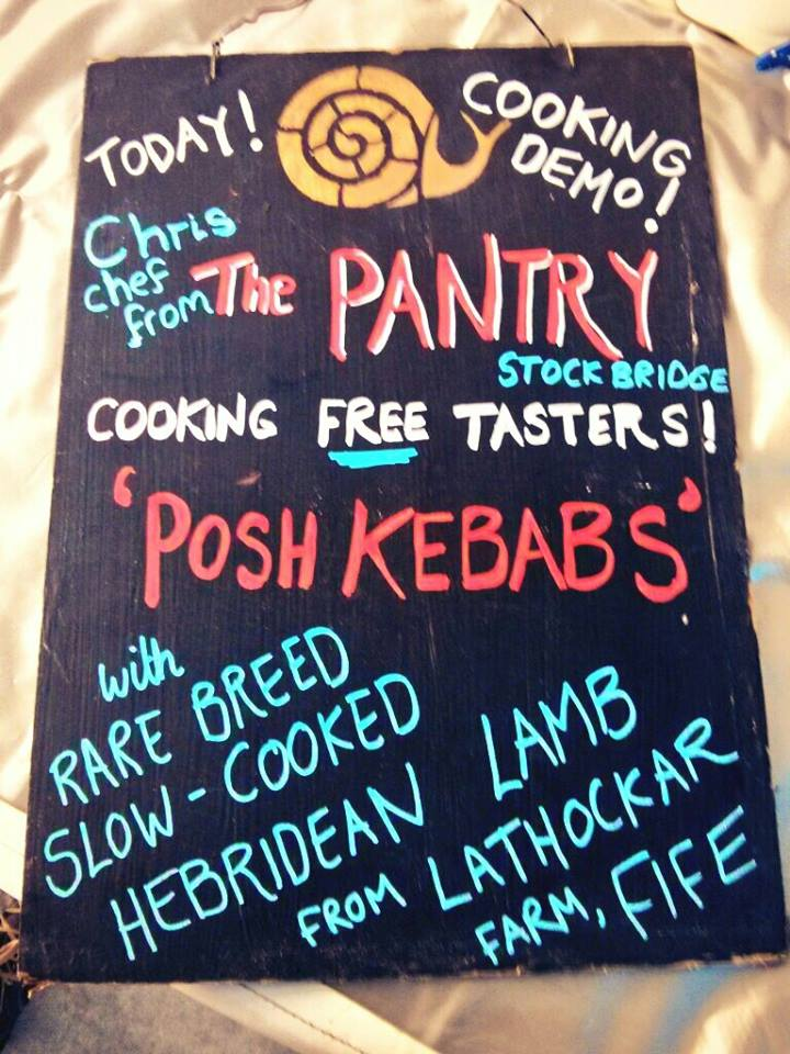 Cooking Demo at the Edinburgh's Farmers Market