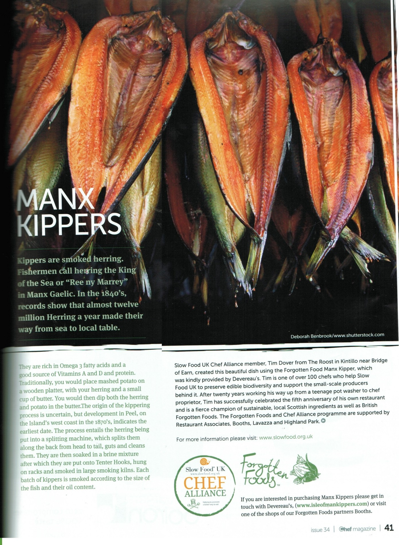 Chef Magazine Issue 34 Manx Kippers Recipe by Tim Dover