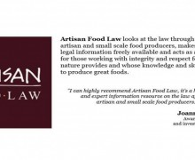 Artisan Food Law