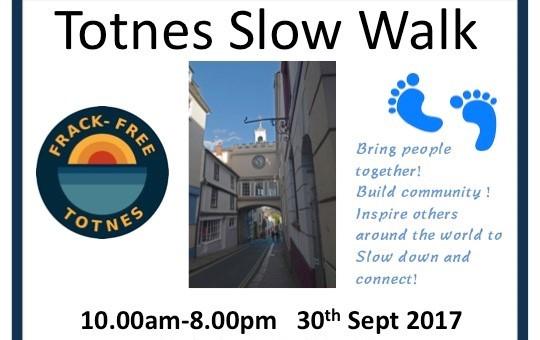 Totnes's Inaugural Slow Walk